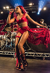 © Licensed to London News Pictures. 29/08/2015. Reading Festival, UK.  Azealia Banks performing at Reading Festival 2015, Day 2.  Photo credit: Richard Isaac/LNP