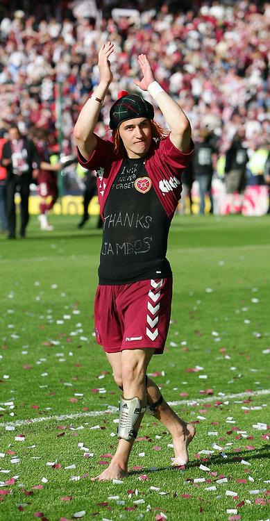 Photo: Andrew Unwin.<br /> Hearts v Gretna. Tennants Scottish Cup Final. 13/05/2006.<br /> Hearts' Rudi Skacel celebrates.