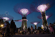 Gardens By The Bay on 3rd June 2018 in Singapore. The Gardens by the Bay is a nature park spanning 101 hectares in the Central Region of Singapore, adjacent to the Marina Reservoir. The park consists of three waterfront gardens: Bay South Garden, Bay East Garden and Bay Central Garden.