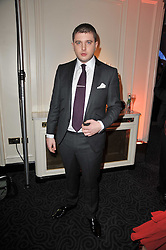 Rapper Ben Drew AKA Plan B at Quintessentially's 10th birthday party held at The Savoy Hotel, London on 13th December 2010.