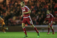 Ben Gibson (Middlesbrough) during the Sky Bet Championship match between Middlesbrough and Wolverhampton Wanderers at the Riverside Stadium, Middlesbrough, England on 4 March 2016. Photo by Mark P Doherty.