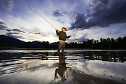 Fly Fishing the Bitterroot River, Montana.