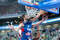 Joffrey Lauvergne #4 of France during basketball match between National teams of France and Serbia in 2nd Round at Day 12 of Eurobasket 2013 on September 14, 2013 in SRC Stozice, Ljubljana, Slovenia. (Photo By Urban Urbanc / Sportida)