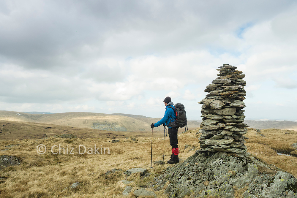 """Both its name and the impressive cairn on Harrop Pike bely its status as """"Just the 1m lower northern top of Grey Crag"""""""