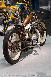 Custom 2004 Harley-Davidson 883 Sportster named El Lunes built by Racz Arpad Dorin of Anarchy Custom of Romania at the AMD World Championship of Custom Bike Building show in the custom dedicated Hall 10 at the Intermot Motorcycle Trade Fair. Cologne, Germany. Saturday October 8, 2016. Photography ©2016 Michael Lichter.