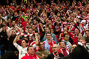 02.10.2013 Manchester, England. Bayern Fans  during the Group D UEFA Champions League game between, Manchester City and Bayern Munich from the Etihad Stadium.