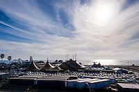 United States, California, Santa Monica. Santa Monica is a beachfront city in western Los Angeles County. Cirque du Soleil at Santa Monica Pier.
