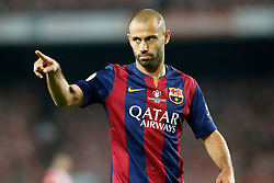 30.05.2015, Camp Nou, Barcelona, ESP, Copa del Rey, Athletic Club Bilbao vs FC Barcelona, Finale, im Bild FC Barcelona's Javier Mascherano // during the final match of spanish king's cup between Athletic Club Bilbao and Barcelona FC at Camp Nou in Barcelona, Spain on 2015/05/30. EXPA Pictures © 2015, PhotoCredit: EXPA/ Alterphotos/ Acero<br /> <br /> *****ATTENTION - OUT of ESP, SUI*****