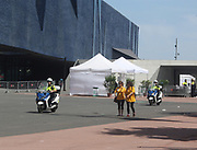 Police emergency motor bikes in Barcelona. Spain 2013