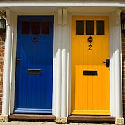 Colourful doors, Sandwich, Kent, England