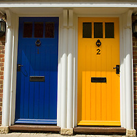 Colourful doors, Sandwich, Kent, England
