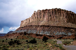 Utah: Capitol Reef National Park.  Geology formations.  .Photo copyright Lee Foster, www.fostertravel.com.Photo #: utcapi103, 510/549-2202, lee@fostertravel.com