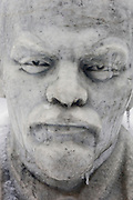 Moscow, Russia, 26/12//2010..A statue of Soviet leader Vladimir Lenin encased in ice after a combination of sudden temperature changes and  freezing rain left large parts of Moscow under a sheet of ice..
