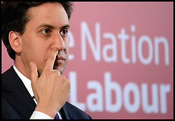 Ed Miliband's speech on One Nation Politics.<br /> Leader of the Labour Party Ed Miliband during his speech, at The St Bride Foundation, Bride Lane,<br /> London, United Kingdom<br /> Tuesday, 9th July 2013<br /> Picture by Andrew Parsons / i-Images