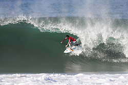 October 25, 2017 - Julian Wilson of Australia keeps his title hopes alive by advancing to the Semifinals of the MEO Rip Curl Pro Portugal after defeating Sebastian Zietz of Hawaii in Quarterfinal Heat 1 at Supertubos, Peniche, Portugal...MEO Rip Curl Pro Portugal 2017, Oeste Subregion, Portugal - 25 Oct 2017 (Credit Image: © Rex Shutterstock via ZUMA Press)