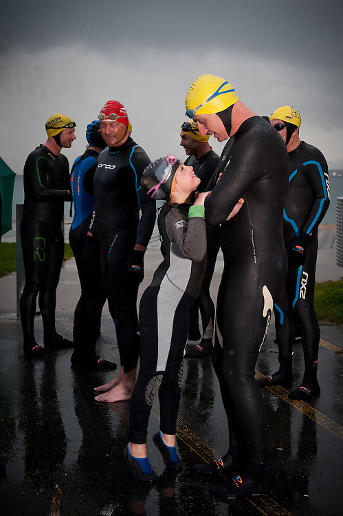 Mid winter swim at Freyberg Beach, Oriental Bay. ..Photo by Mark Tantrum   www.marktantrum.com