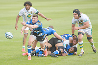 Rugby Union - 2020 / 2021 Gallagher Premiership - Round 22 - Bath vs Northampton Saints - Recreation Ground<br /> <br /> Bath Rugby's Ben Spencer in action during this afternoon's game.<br /> <br /> COLORSPORT/ASHLEY WESTERN