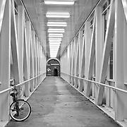 Pedestrian Bridge on the University of Mary Washington campus in Fredericksburg, VA.