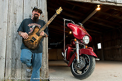 Charlie Brechtel poses for a portrait during the Annual Sturgis Black Hills Motorcycle Rally.  SD, USA.  August 6, 2016.  Photography ©2016 Michael Lichter.