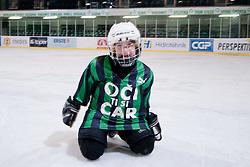 Lan Matija Jan, son of Ivo Jan, during ice-hockey match between HK Olimpija and HK Triglav in third match for Third place at Slovenian National League, on April 6, 2011 at Hala Tivoli, Ljubljana, Slovenia. (Photo By Matic Klansek Velej / Sportida.com)