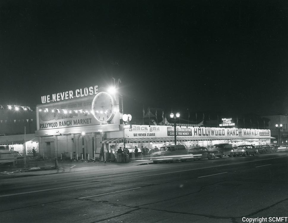1961 Hollywood Ranch Market on Vine St.