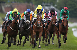 Leodis Dream (centre) ridden by Daniel Tudhope wins The Boodles Diamond Handicap Stakes, during Boodles City Day at Chester Racecourse, Chester.