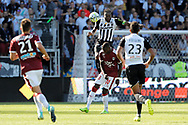 Ismael TRAORE (SCO Angers), Younousse SANKHARE (Girondins de Bordeaux), Angelo FULGINI (SCO Angers), Theo PELLENARD (Girondins de Bordeaux) during the French championship L1 football match between SCO Angers and Bordeaux on August 6th, 2017 at Raymond-Kopa stadium, France - PHOTO Stéphane Allaman / ProSportsImages / DPPI