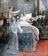 Philip of Orleans, Count of Paris (1838-1894), Grandson of Louis Philippe of France, Orleanist pretender to French throne, on his deathbed at Stowe House, Buckinghamshire, England. From 'Le Petit Journal', 17 September 1894.