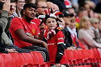 Football - 2021 / 2022 Pre-Season Friendly - Manchester United vs Everton - Old Trafford - Saturday 7th August 2021<br /> <br /> United fans back inside Old Trafford before the kick off, at Old Trafford.<br /> <br /> COLORSPORT/ALAN MARTIN