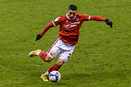 Nottingham Forest Midfielder Anthony Knockaert (28) during the EFL Sky Bet Championship match between Nottingham Forest and Middlesbrough at the City Ground, Nottingham, England on 20 January 2021.