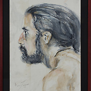 """Title: Life Study<br /> Artist: Aaron Frei<br /> Date: 2015<br /> Medium: Watercolor<br /> Dimensions: 23 x 29""""<br /> Instructor: Janet Brooks<br /> Awards: 3rd Place in Painting – 39th Annual Student Art Exhibition<br /> Status: On loan<br /> Location: Highland Testing Center, HLC 1000, 2221"""
