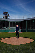 SANTA CLARA,CA 11/18/15 11:29:06 AM <br /> Stephen Schott started playing baseball at this field, Washington Park, when he was about 13 years old.  He went on to later own the Oakland A's, build homes in Santa Clara, and have a baseball stadium named after him in the city.  <br /> Sarah Rice for The New York Times