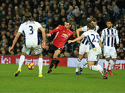 17 December 2016 - Premier League - West Bromwich Albion v Manchester United - Zlatan Ibrahimovic of Manchester United shoots to score his 2nd (0-2) - Photo: Paul Roberts / Offside.