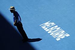 January 18, 2018 - Mebourne, Victoria, Australia - Melbourne centre - Flinders Park stade - Ambience centrale securite (Credit Image: © Panoramic via ZUMA Press)