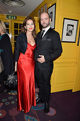 YASMIN MILLS and JUSTIN HORNE at the mothers2mothers 15 Years of Wonder Women at held at Annabel's, Berekely Square, London on 9th November 2016.