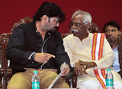 July 13, 2017 - Kolkata, West Bengal, India - Babul Supriyo and Bandaru Dattatreya (from left to right) the inaugurations program of new building of ESIC Regional Office, Kolkata. Minister of State (Independent Charge) Labor and Employment, Govt. of India, Bandaru Dattatreya, Union Minister of State Urban Development, Housing, Babul Supriyo, actress turned BJP MP Roopa Ganguly during inauguration of new building of ESIC Regional Office, Kolkata and foundation stone laying for up gradation of ESI Hospital Baltikuri & Durgapur, West Bengal in Kolkata on July 13, 2017. (Credit Image: © Saikat Paul/Pacific Press via ZUMA Wire)