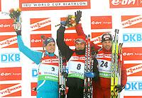 Skiskyting<br /> Verdenscup<br /> 10.01.2010<br /> Oberhof - Tyskland<br /> Foto: imago/Digitalsport<br /> NORWAY ONLY<br /> <br /> IBU World Cup Biathlon Massenstart Männer 15km v.l. Tim Burke (USA) - Ole Einar Bjørndalen (NOR) und Tomsz Sikora (POL)