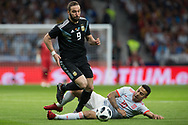 Gonzalo Higuain of Argentina and Thiago of Spain during the International friendly game football match between Spain and Argentina on march 27, 2018 at Wanda Metropolitano Stadium in Madrid, Spain - Photo Rudy / Spain ProSportsImages / DPPI / ProSportsImages / DPPI