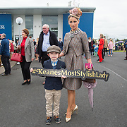 08.10.17.            <br /> Pictured at Limerick Racecourse for the  Keanes Most Stylish Lady competition were, Adam and Sarah Kelly. Picture: Alan Place