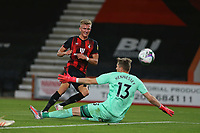 Football - 2019 / 2020 EFL Cup - Round 2 -AFC Bournemouth vs. Crystal Palace <br /> <br /> Bournemouth's Sam Surridge fires past Wayne Hennessey of Crystal Palace to score only for his goal to be ruled out for offside at the Vitality Stadium (Dean Court) Bournemouth <br /> <br /> COLORSPORT/SHAUN BOGGUST