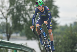 September 15, 2017 - Chenghu City, United States - Samuel Jenner from Mitchelton Scott team during the fourth stage of the 2017 Tour of China 1, the 3.3 km Chenghu Jintang individual time trial. .On Friday, 15 September 2017, in Jintang County, Chenghu City,  Sichuan Province, China. (Credit Image: © Artur Widak/NurPhoto via ZUMA Press)
