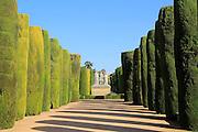 Gardens of the Alcázar de los Reyes Cristianos, Alcazar, Cordoba, Spain