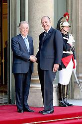 September 21, 2016 - Paris, IDF, France - Le president Portugais M.JORGE SAMPAIO est recu par le president Fran√ßais Jacques CHIRAC au Palaids de L Elysees  (Credit Image: © Visual via ZUMA Press)