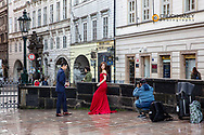 Chinese wedding photo shoot in Prague, Czech Republic