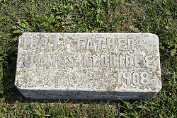 23 September 2017: James Aldridge 1837 - 1908.  West Union Cemetery is located on the north side of Illinois Rt 9 between Danvers and Mackinaw.  It is located within McLean County