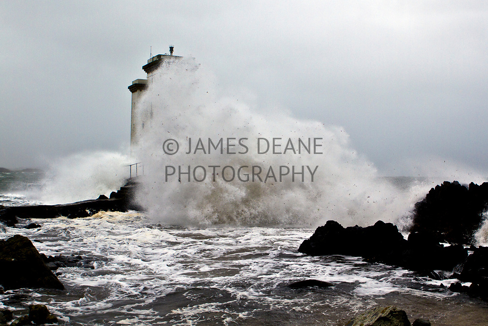 Shortly after Hurricane Katia in 2011 the after effects hit Western Scotland. This was the scene at Port Ellen Lighthouse on Islay