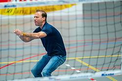 Trainer Coach Paul van der Ven of Sliedrecht in action during the quarter cupfinal between Taurus vs. Sliedrecht Sport on April 02, 2021 in sports hall De Kruisboog, Houten