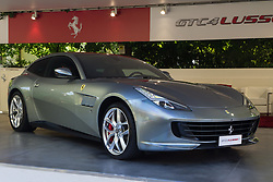 June 7, 2017 - Italy - Turin, Italy, 7th June 2017. A Ferrari GTC4 Lusso. Third edition of Parco Valentino car show hosts cars by many automobile manufacturers and car designers inside Valentino Park in Torino, Italy. (Credit Image: © Marco Destefanis/Pacific Press via ZUMA Wire)