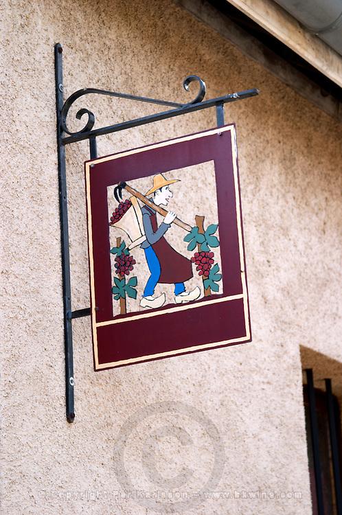 wrought iron sign clos st louis fixin cote de nuits burgundy france
