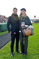 JODIE KIDD and DAVID BLAKELEY at the 2013 Hennessy Gold Cup at Newbury Racecourse, Berkshire on 30th November 2013.